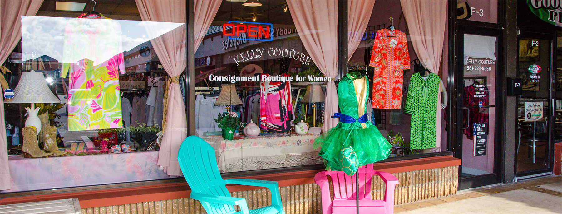 b5a65f4630b Kelly Couture Consignment is a women s consignment shop located in the  Jupiter Square Shopping Center in Jupiter